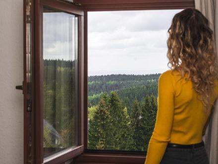 Zimmer mit Ausblick über das Osterzgebirge